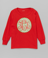 Swag Red Monogram Tee - Toddler & Girls