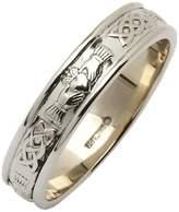 Fado Mens Narrow Rounded Claddagh Irish Wedding Ring Size 9