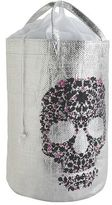 Pier 1 Imports Silver Skull Laundry Tote