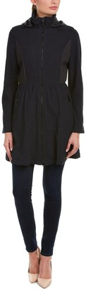 Elie Tahari Women's Lexy Fit & Flare Lace Coat with Hood