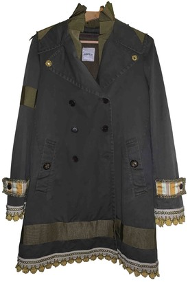 Aspesi Green Cotton Coat for Women