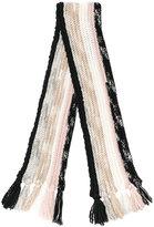 Missoni striped chunky knit scarf