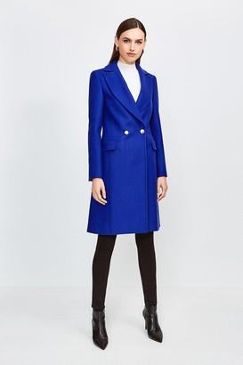 Karen Millen Italian Wool Blend Double Breasted Coat