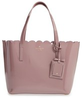 Kate Spade 'Lily Avenue Patent - Small Carrigan' Leather Tote - Brown
