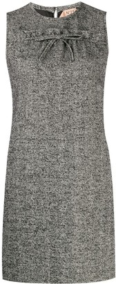 No.21 Herringbone Tweed Shift Dress
