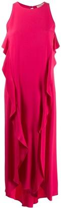 Twin-Set Ruffled Asymmetric Maxi Dress