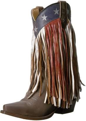Roper Women's Americana Fringe Work Boot