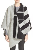 Burberry Check Wool & Cashmere Cape