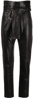IRO Paperbag Waist Leather Trousers