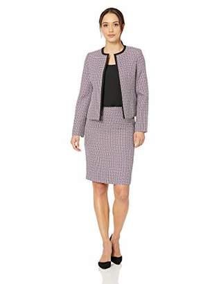 Le Suit Women's Petite Flyaway Jacket Skirt Suit