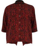 River Island Womens Plus red print popper shirt