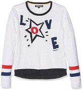 Tommy Hilfiger Girl's Intarsia CN Sweater L/S Jumper,(Manufacturer Size: 12)