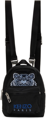 Kenzo Black Mini Kampus Tiger Backpack