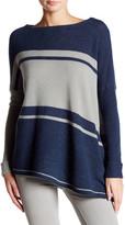 Cullen Striped Asymmetric Hem Cashmere Tunic