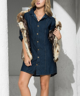 Am.pm. Indigo Denim Button-Up Dress