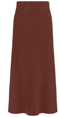 Mint Velvet Rust A-Line Knitted Midi Skirt