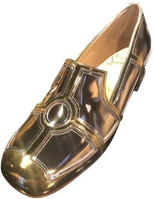 Christian Louboutin Madame Mix Gold Patent leather Flats