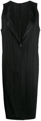 Pleats Please Issey Miyake crepe shift dress