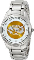 Game Time Women's COL-WCD-MO Wildcard Triple Silver Stone Analog Display Japanese Quartz Silver Watch