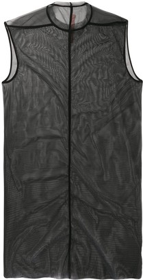 Rick Owens Lilies Sheer Sleeveless Dress