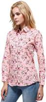 XI PENG Urban Future Women's Tops Feminine Vintage Blouse Button Down Floral Cotton Shirts