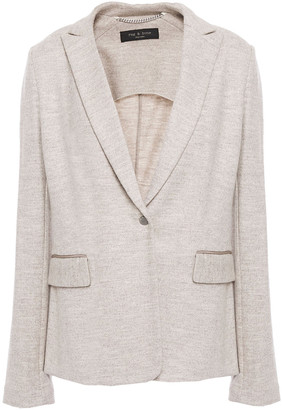 Rag & Bone Lexington Melange Wool-jersey Blazer