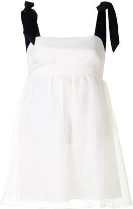 macgraw Petal empire-line organza blouse