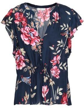 Joie Crisbell Floral-print Silk Top