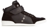 Jimmy Choo Lewis High-top Leather Trainers