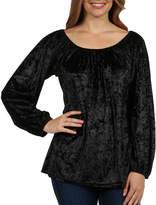 24/7 Comfort Apparel Taormina Velvet Maternity Tunic Top