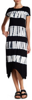 Cable & Gauge Short Sleeve Tie Dye Dress (Petite)