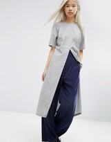 Asos Longline Top With Split Front