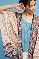 Anthropologie Lynnie Tasseled Kimono