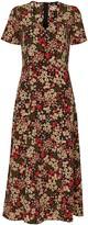 Wallis Black Ditsy Floral Midi Dress