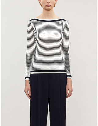 Max Mara Ugolina asymmetric ribbed-knit T-shirt
