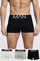 BoohoomanBoohooMAN Mens Multi 3 Pack Mixed Colour MAN Trunks, Multi
