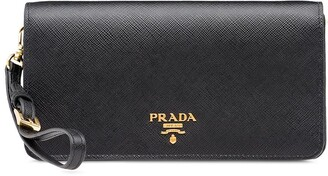Prada Saffiano logo plaque mini bag