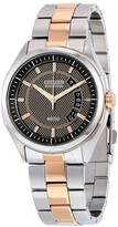 Citizen HTM Eco-Drive Black and Brown Dial Two-tone Men's Watch