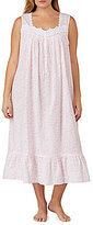 Eileen West Plus Rose-Print Lawn Ballet Nightgown