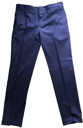 Prada Burgundy Wool Trousers