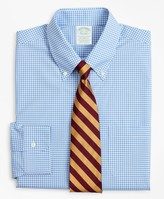 Brooks Brothers Stretch Milano Slim-Fit Dress Shirt, Non-Iron Poplin Button-Down Collar Gingham