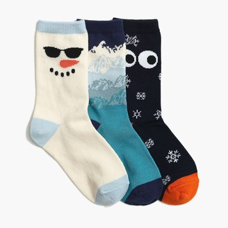 J.Crew Boys' snow trouser socks 3-pack