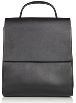 Topshop Mini Scandi Faux Leather Backpack - Black