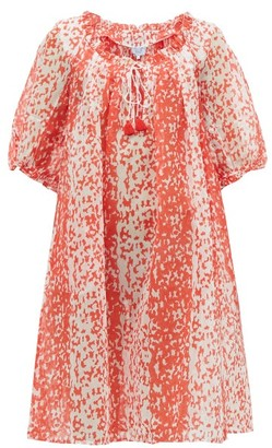 Thierry Colson Eva Animal-print Cotton-blend Dress - Red