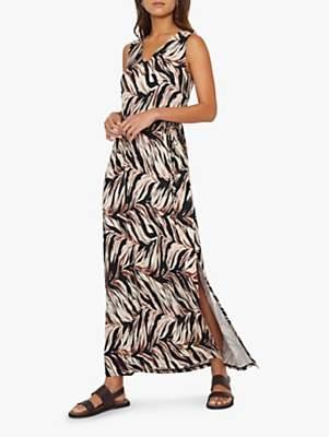 Warehouse Abstract Maxi Dress, Animal