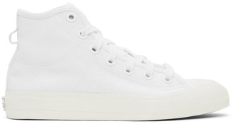 adidas White Nizza High-Top Sneakers