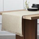 Crate & Barrel Beckett Natural Linen Table Runner