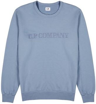 C.P. Company Blue logo-embroidered cotton sweatshirt