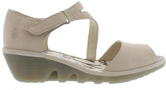 Fly London Pona Leather Wedge Sandal