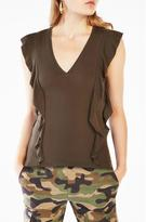 BCBGMAXAZRIA Brittney Ruffle-Sleeve Top